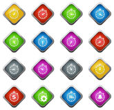Timer icon set Royalty Free Stock Images
