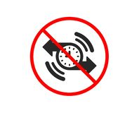 Timer icon. Time or clock sign. Vector. No or Stop. Timer icon. Time or clock sign. Prohibited ban stop symbol. No timer icon. Vector stock illustration