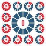 Timer Icons Set Royalty Free Stock Photography