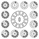Timer Icons Set Gray Royalty Free Stock Images