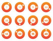 Timer icons set royalty free illustration