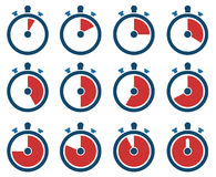Timer icons Royalty Free Stock Images
