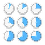Timer Icons on White Background, Vector Illustration Royalty Free Stock Images
