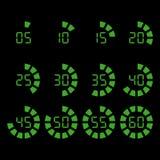 Timer-Ikonen eingestellt Vektor Abbildung