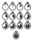 Timer-Ikonensätze - Stoppuhr Stockfoto