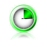 Timer. Illustration. Green glass Timer. Illustration of object Royalty Free Stock Photos