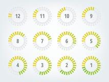 Timer infographics Stockfotos