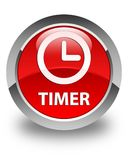 Timer glossy red round button Royalty Free Stock Photography