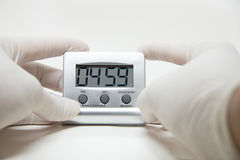 Timer laboratory testing Stock Images