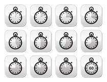 Time, clock, stopwatch  buttons set Stock Photography