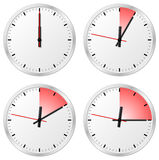 Timer with 0, 5, 10 and 15 minutes. Vector illustration of a timer with 0, 5, 10 and 15 minutes Stock Photo