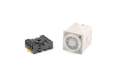 Timer relay switch Royalty Free Stock Photos