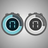 Timer 17 seconds isolated on gray background. Electronic Digital Stopwatch. Timer 17 seconds isolated on gray background. Stopwatch icon set. Timer icon. Time Stock Illustration