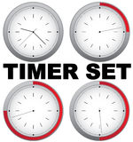 Timer set. Set of timers with 15 min interval Royalty Free Stock Photo
