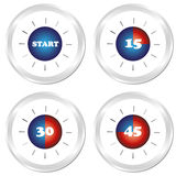 Timer. Set of four clock. Stock Images