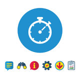 Timer sign icon. Stopwatch symbol. Royalty Free Stock Photography