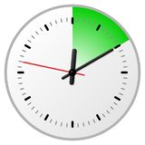 Timer with 10 ten minutes. Vector illustration of a timer with 10 ten minutes royalty free illustration