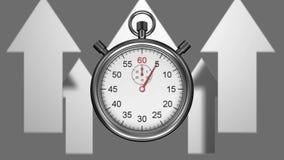 Timer und Pfeile stock video