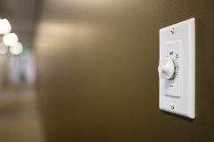 Timer wall switch Stock Photo