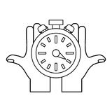 Timer watch symbol Royalty Free Stock Photo