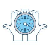 Timer watch symbol Royalty Free Stock Image