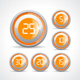 Timers buttons set. Timer buttons set vector illustration Royalty Free Stock Image