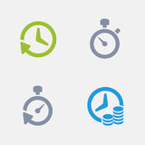 Timers - Granite Icons Stock Photo