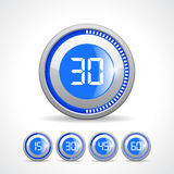Timers 15 30 45 60 minute. S set Vector Illustration