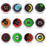Timers set Royalty Free Stock Photos