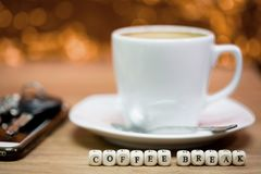 Times of coffee,Coffee break.  royalty free stock photography