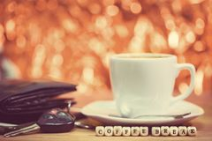 Times of coffee,Coffee break.  royalty free stock image