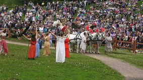 Times and Epochs festival in Kolomenskoe in Moscow, Russia. Reenactment of the Rome empire epoch. stock footage