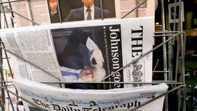 The Times gazeta z Boris Johnson na pokrywie zbiory wideo