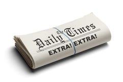 Daily Times piegato Fotografia Stock