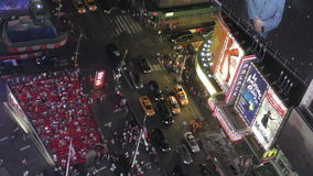 Times Sqare New York City from above stock video