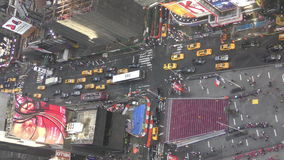 Times Sqare New York City from above stock video footage