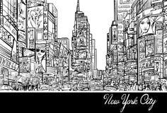 Times Square à New York illustration stock
