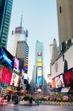 Times Square à New York pendant le matin Images libres de droits