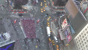 Times Square άνωθεν απόθεμα βίντεο