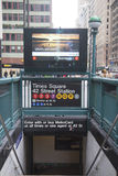 Times Square 42 είσοδος σταθμών μετρό του ST στη Νέα Υόρκη Στοκ φωτογραφία με δικαίωμα ελεύθερης χρήσης