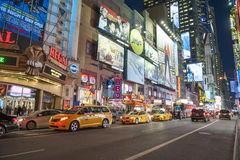 Times Square Νέα Υόρκη - το Φεβρουάριο του 2016 Στοκ εικόνες με δικαίωμα ελεύθερης χρήσης