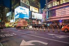 Times Square Νέα Υόρκη - το Φεβρουάριο του 2016 Στοκ Φωτογραφία