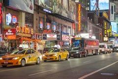 Times Square Νέα Υόρκη - το Φεβρουάριο του 2016 Στοκ Φωτογραφίες
