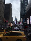 Times Square στο τέλος της broadway πόλης της Νέας Υόρκης Στοκ Εικόνες