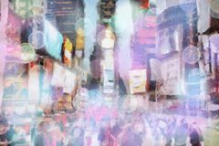 Times Square royalty-vrije illustratie