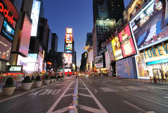Times Square. A quite and empty Times Square, typically the busiest commercial district in New York and the United States of America royalty free stock photography