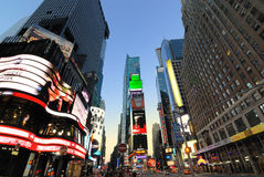 Times Square. In New York City is the busiest commercial district in the United States of America stock images