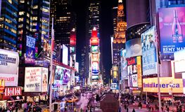 Times Square. Featured with Broadway Theaters and animated LED signs, is a symbol of New York City and the United States, January 6, 2011 in Manhattan, New stock photos