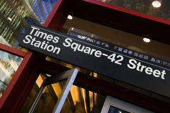 Times Square. 42nd street subway station in Manhattan royalty free stock images