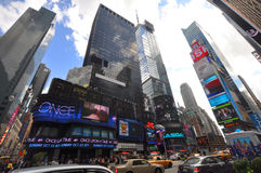 Times Square in 2011, New York City. Times Square wide angle photo in summer 2011, New York City, USA royalty free stock photos